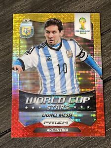 2014 Panini Prizm World Cup Stars Yellow Red Pulsar Prizm Lionel Messi Refractor