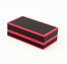 Pack of 12 pink and black medium pendant/earring box