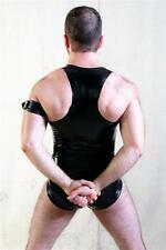 Latex Muscle Vest Top - Unisex Shirt - Black - Rubber Fetish Gummi