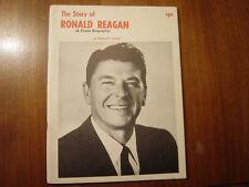 The Story of Ronald Reagan - Jennett pub.1967 RARE book