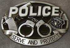 Pewter Belt Buckle Police Law Enforcement NEW