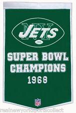 NEW YORK JETS SUPER BOWL III 3 DYNASTY BANNER JOE NAMATH CHAMPIONS