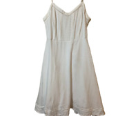 Old Navy Dress Womens Size Medium White Cotton Strap Adjustable