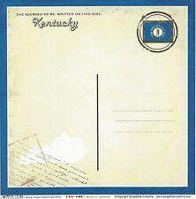 Scrapbook Customs - Kentucky Postcard Scrapbooking Paper - 36385 Vintage