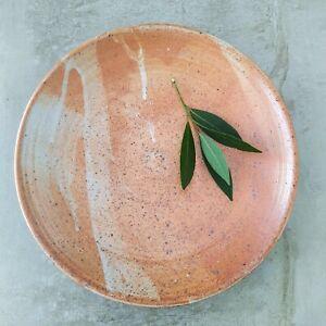 Australian studio Pottery Bowl Serving Dish Impressed Mark 26.7cm speckled
