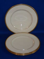 LENOX CHINA J-33 PATTERN 3 GOLD ENCRUSTED SALAD PLATES 8 1/8""