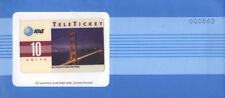 U.S.A. AT&T TELETICKET SAN FRANCISCO BRIDGE 10 UNITS NUOVA IN BUSTA SIGILLATA