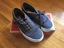 Scarpe VANS AUTHENTIC (C&L) N° 36 periscope/true white profili in pelle blu