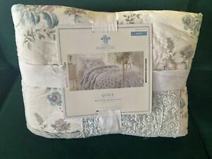 Twin Simply Shabby Chic White & Blue DASCHA PATCHWORK Quilt