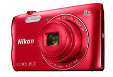Nikon Coolpix A300 20.1mp Digital Compact Camera Red