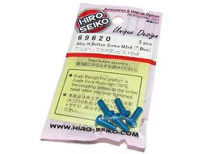 Hiro Seiko 69620 AE B6.1 B64 T6.1 3 x 8mm BLUE Alloy Button Head Screws