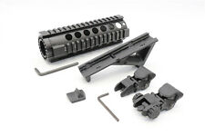 .223/5.56 7 Inch One Piece Handguard + Polymer Angled Foregrip + Flip-Up Sights
