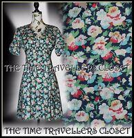 Topshop Kate Moss Iconic Floral Pansy Tea Dress WW2 1940s Landgirl Vintage UK 10