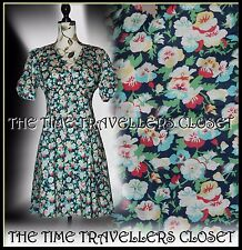 NEW Topshop Kate Moss Iconic Floral Pansy Tea Dress 1940s Landgirl Vintage UK 12