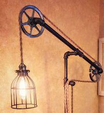 Pulley Standing Floor Rope Pipe Lamp - Industrial Design