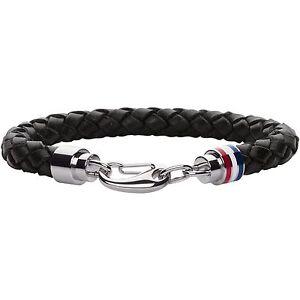 Tommy Hilfiger 2700510 Braided Black Leather Bracelet
