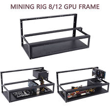 12 GPU Open Air Miner Mining Rig Frame Computer Equipment Case BTC Ethereum