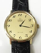 Omega Deville Original Genuine Vintage 10K Gold Filled Quartz Watch Swiss Made