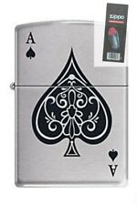 Zippo 8897 Vintage Ace of Spades Lighter + FLINT PACK