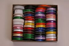 """61 Rolls Ribbon, Most Are Full 10 Yard Rolls, Offray, Lace, 1/8"""" 3/16"""" 1/4"""" 3/8"""""""