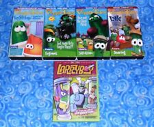 VeggieTales and Larry Boy Lot of 4 VHS Video Tapes and 1 DVD Disc Excellent