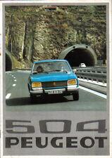 Peugeot 504 Saloon L GL Ti LD GLD 1975-76 Original French Sales Brochure