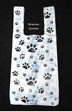 "300 PAW Print Plastic Shopping Bags .5 mil Dog / Cat / Pet  ...7"" x 16"" -- SALE"