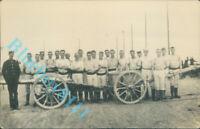 WW1 Royal Marine Artillerymen Gunners Taken In France Real photo unposted