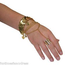 Egyptian Arabian Princess Gypsy Coin Hand Jewellery Belly Dancer Fancy Dress