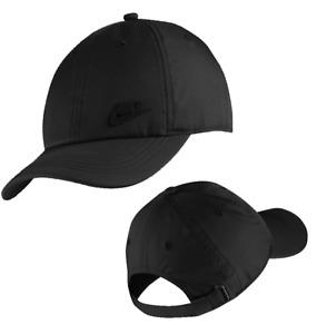 Nike Unisex Youth Heritage 86 1 Size Cap Lightweight Breathable Hat Black