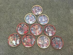 Michael Jordan Collectible Plates. Set of 10 with book