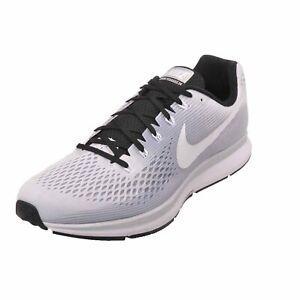 NEW Men's Nike Air Zoom Pegasus 34 TB Running Shoes Pure Platinum White Black