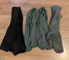Bundle Girls 11-12 Years Tights Black  grey X 4 School