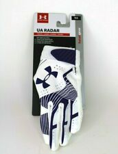 Under Armour UA Radar Batting Gloves YLG Small White/Purple 1299552 500 Girls