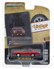 """Greenlight Ford Mustang Gt 1982 """"The Boss is Back� Vantage Ad Cars 39050 E 1/64"""