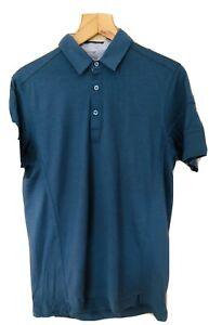 Rapha City Riding Collection: Blue Merino Short Sleeve Polo Large