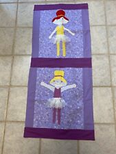 Handmade Quilted Baby Blanket With Ballerinas