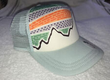 PATAGONIA W's SOLAR RAYS INTERSTATE '73 Mountain TRUCKER HAT / Teal Blue