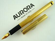 AURORA HASTIL - Ricercata Stilografica Vintage Argento Massiccio Dorato 22kt!!