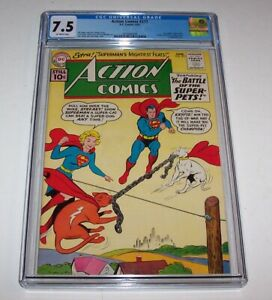 Action Comics #277 - CGC VF- 7.5 - 1961 DC Silver Age Issue - Supergirl cover
