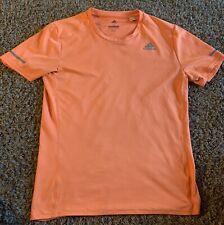 Adidas Energy Running Shirt Men's Small ClimaLite Exercise Tee Orange