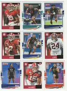 Lot of 30 Different Alabama Alumni 2020 Football Cards; 9 Rookie Cards