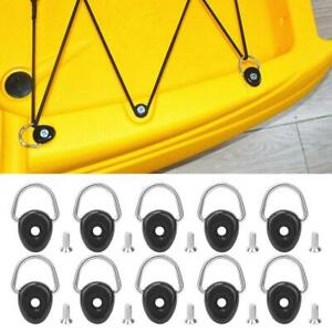 10Pc Kayak D Ring Outfitting Deck Fitting Tie Down Loop Boat Canoe Accessory