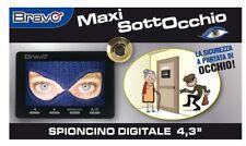 SPIONCINO ELETTRONICO CON MONITOR LCD 4,3 POLLICI FUNZIONE REGISTRAZIONE SD
