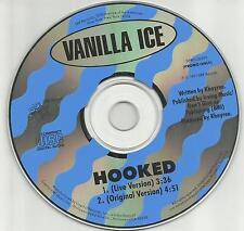 VANILLA ICE Hooked w/ RARE LIVE version & ORIGINAL PROMO DJ CD single 1991 USA