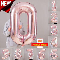 ROSE GOLD Giant Foil 40 INCH Number Balloons Party Decorations Anniversary
