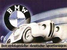 ADVERTISEMENT BMW SPORT CAR GERMAN ART POSTER PRINT LV351