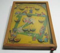 Poosh-m-up Jr. 4 in 1 1930's Pinball Game Northwestern Products Baseball