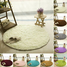 60*60CM Solid Color Household Silk Thick Round Living Room Silk Bath Carpet WA