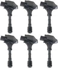 UF550 SET OF 6 Ignition Coil for 2007-2012 Infiniti Nissan V6 V8 3.5L 5.0L 6 Cyl